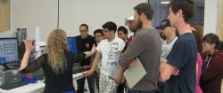 GHG Product Manager Gloria Jacobson teaches San Jose State University Undergrads about  Picarro analyzer technology