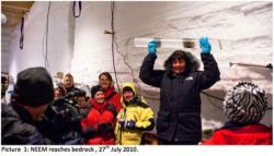 Ice Core at NEEM in Greenland