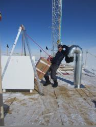 David Noone at Summit station in Greenland